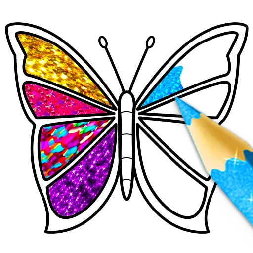 Glitter Butterfly Coloring - Learn Colors for kids icon