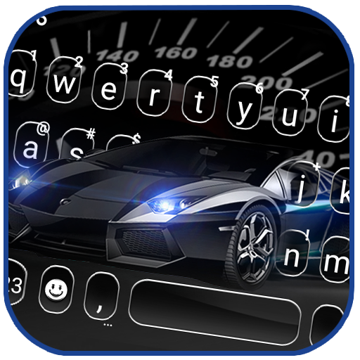 Luxury Black Car Keyboard Theme icon