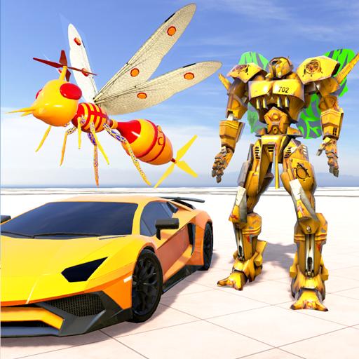 Mosquito Robot Transforming Games: Robot Car Game icon