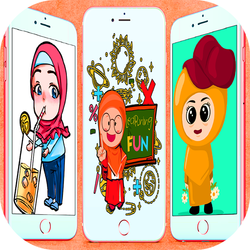 Muslimah Cartoon Wallpaper icon