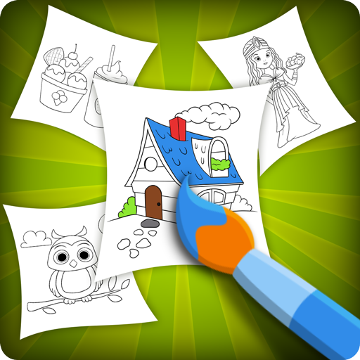 Beautiful Coloring Book For Kids - Preschool Games icon