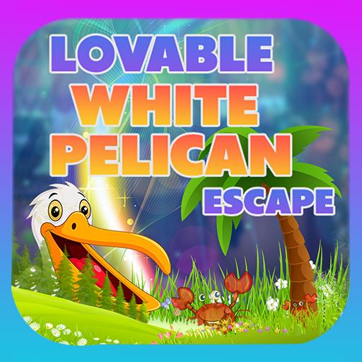 Lovable White Pelican Escape - Best Escape Games icon